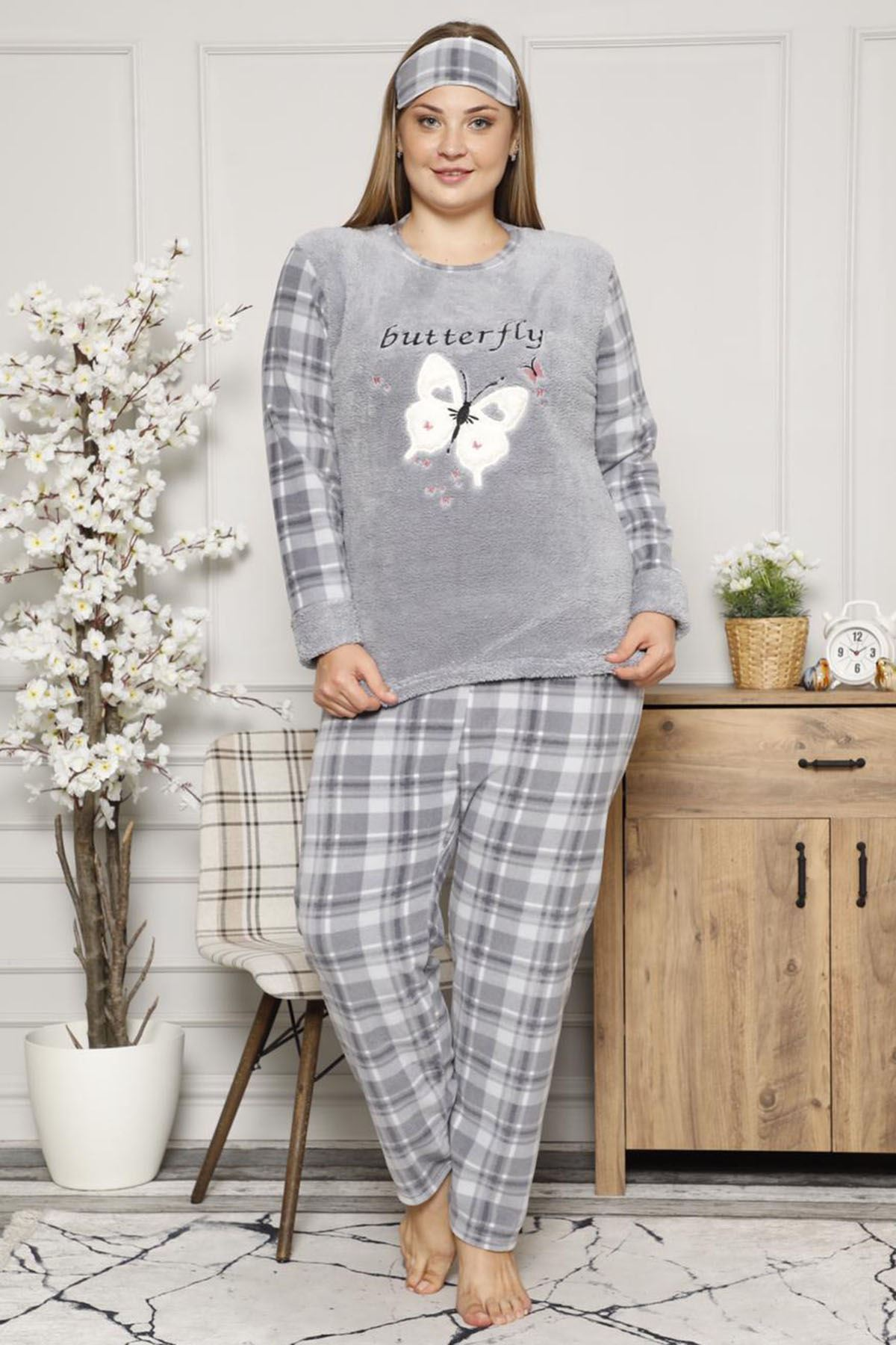 Welsoft Polar Pijama Takımı 32D-9040G