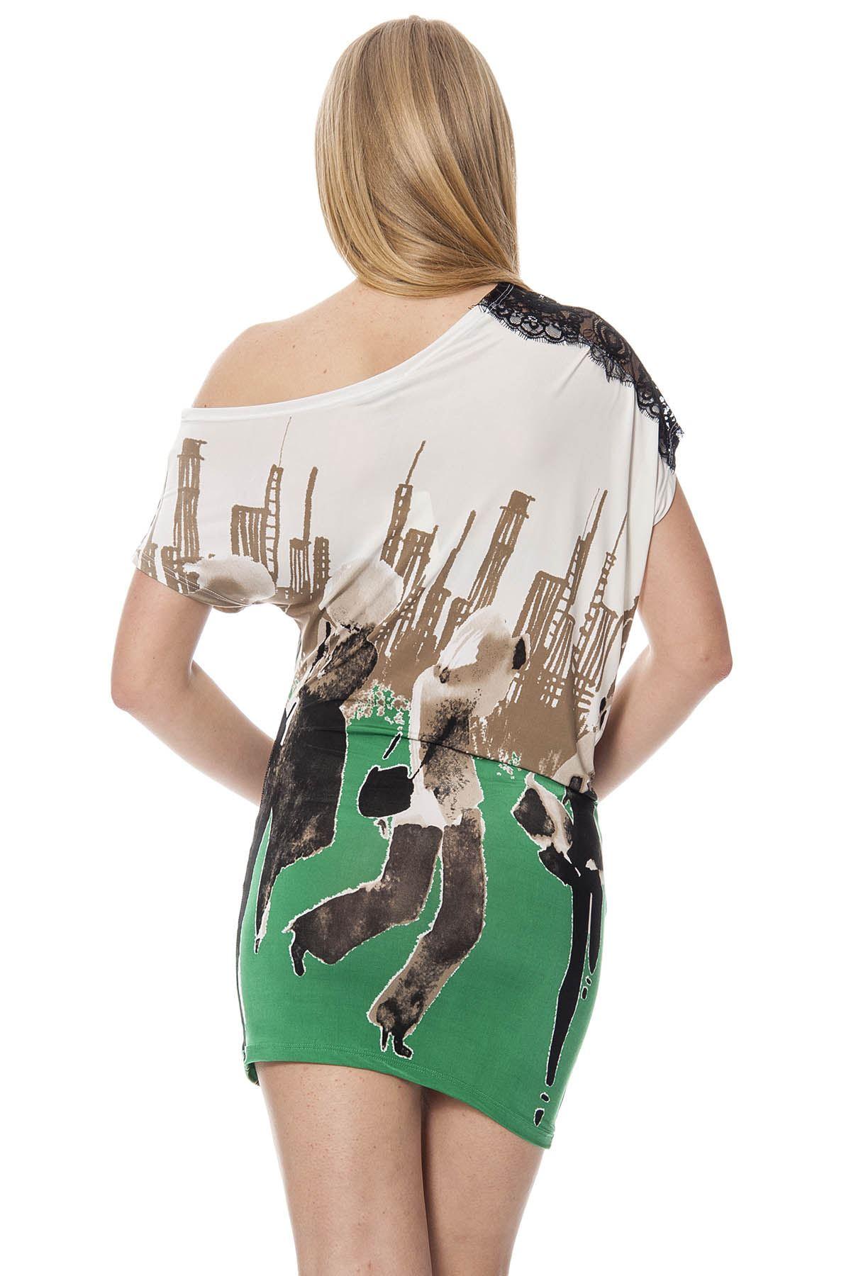 Baskılı Kadın Elbise G1-1708