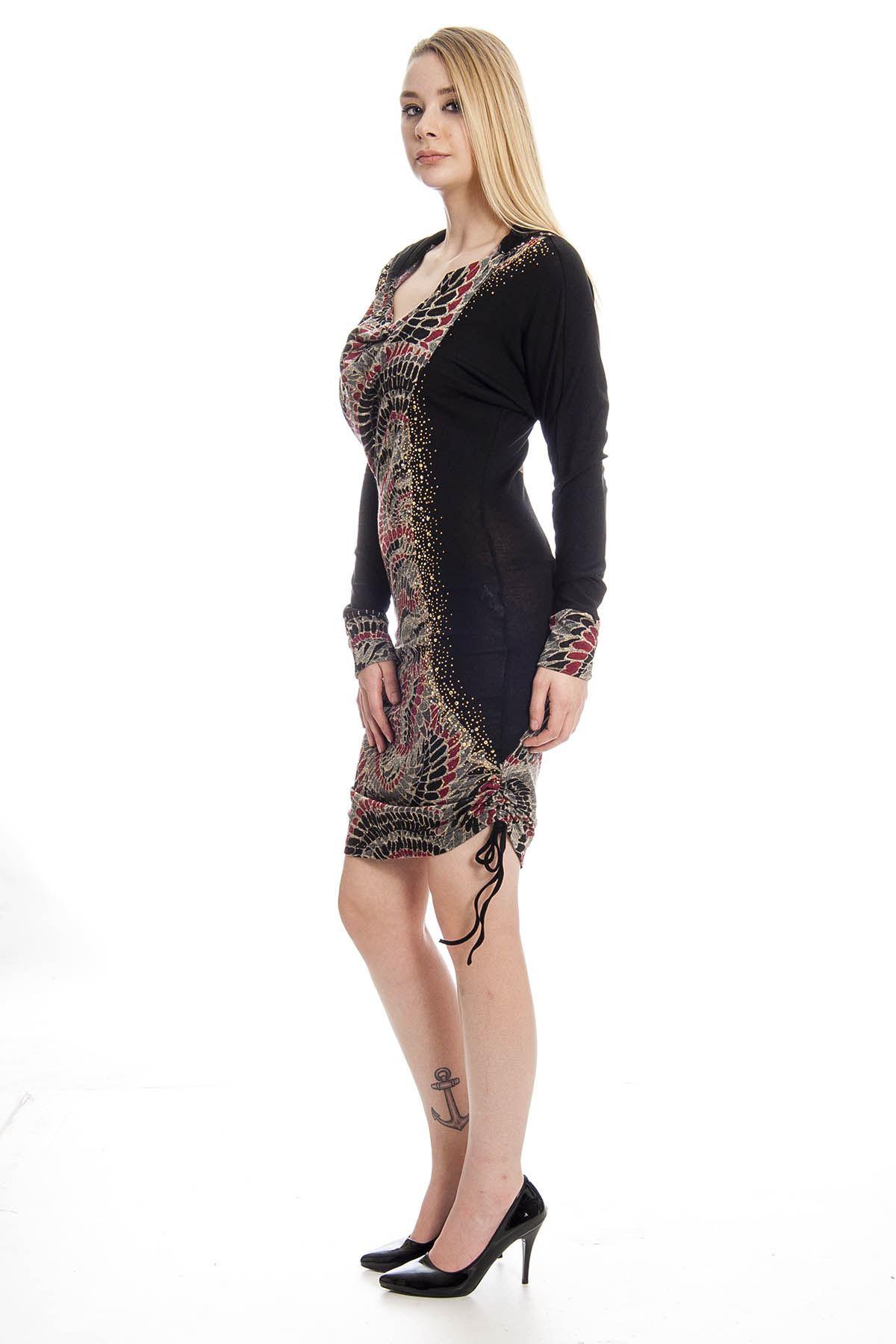 Kahverengi Elbise G1-8085