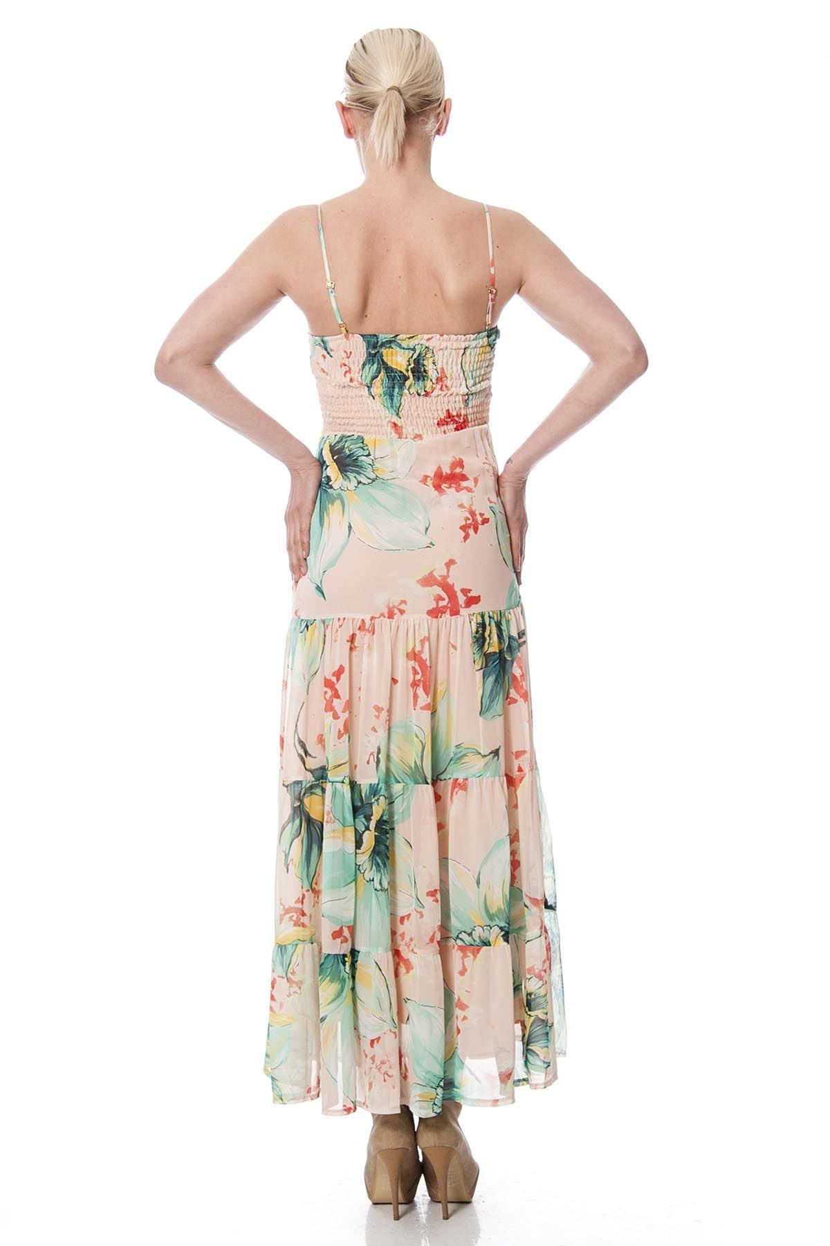 Askılı Şifon Elbise G1-3544