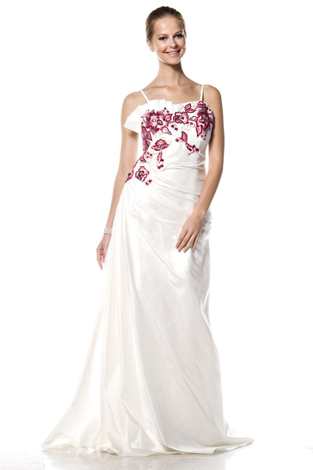 Beyaz Abiye Elbise G1-4732