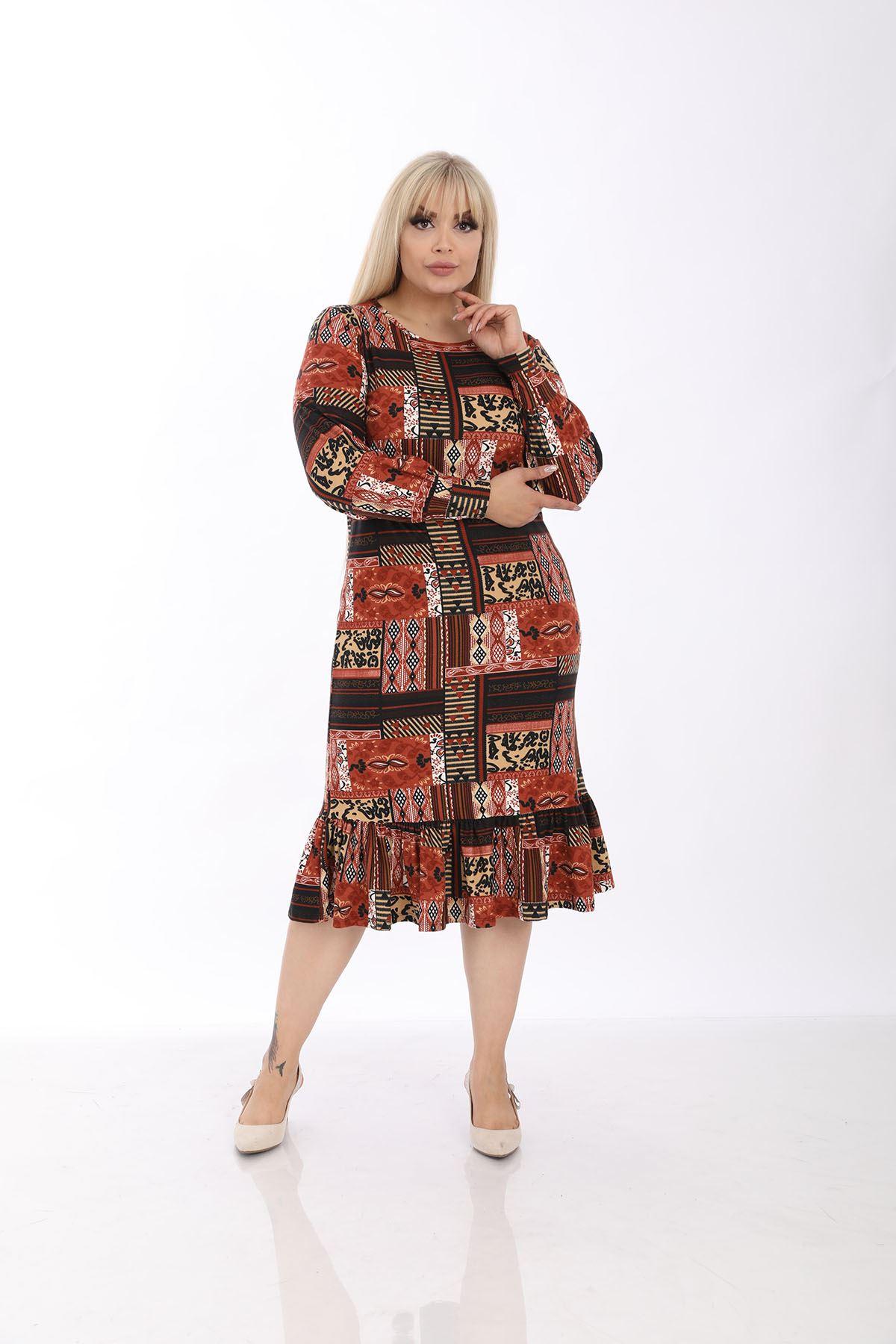 Manşet Kol Kışlık Elbise 33D-1311