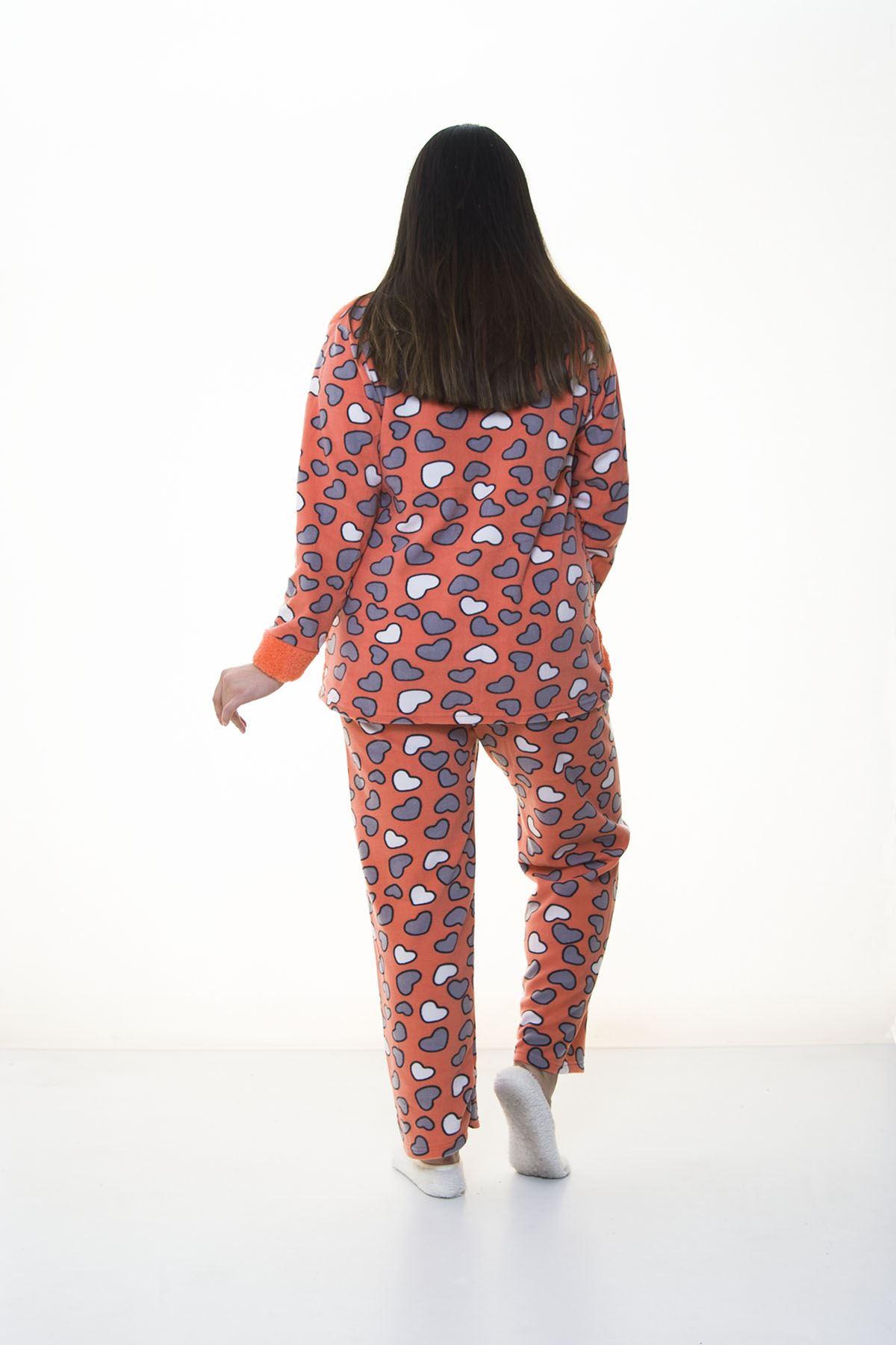 Peluş Polar Pijama Takımı 32C-1383