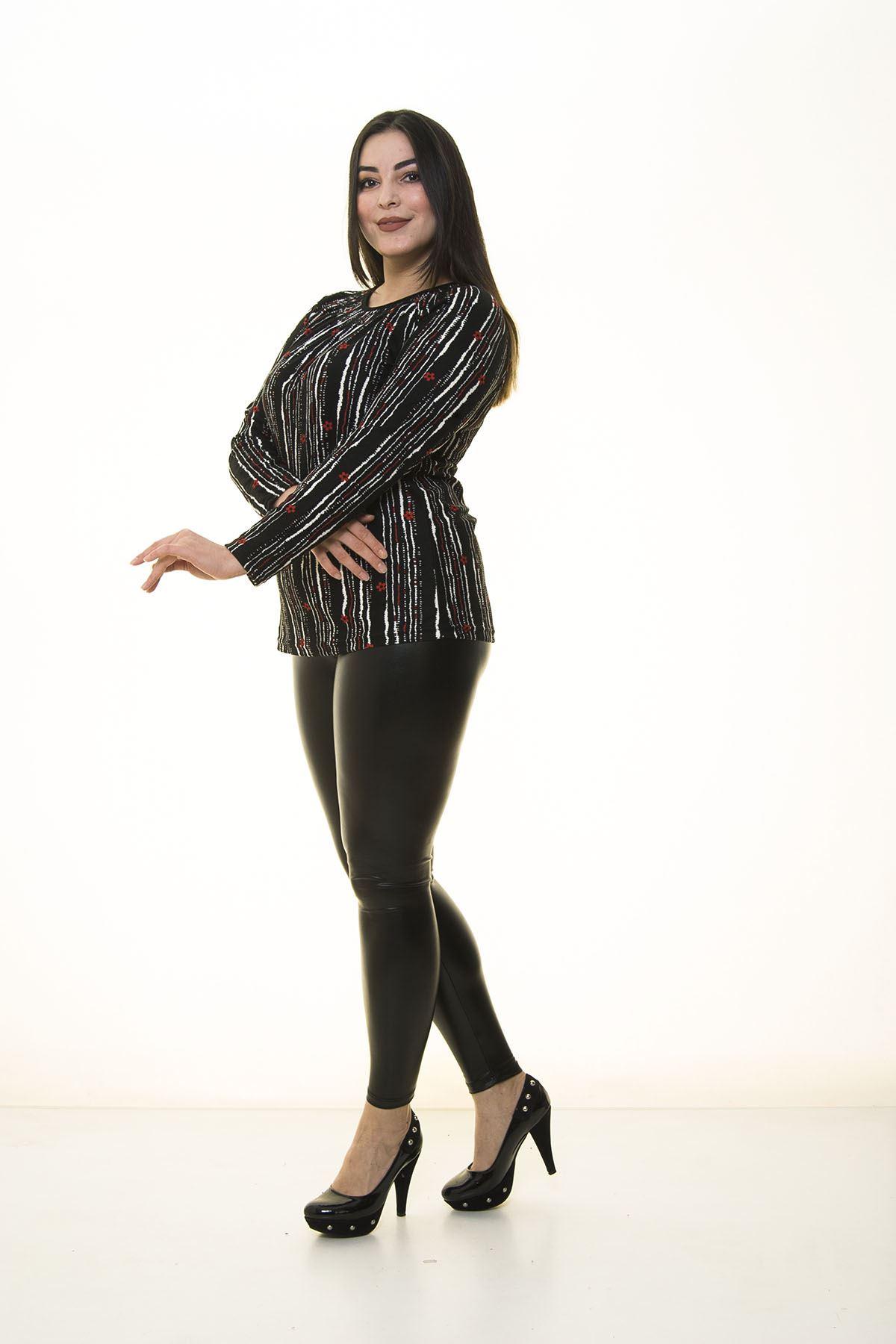 Siyah Esnek Bluz 22C-1395