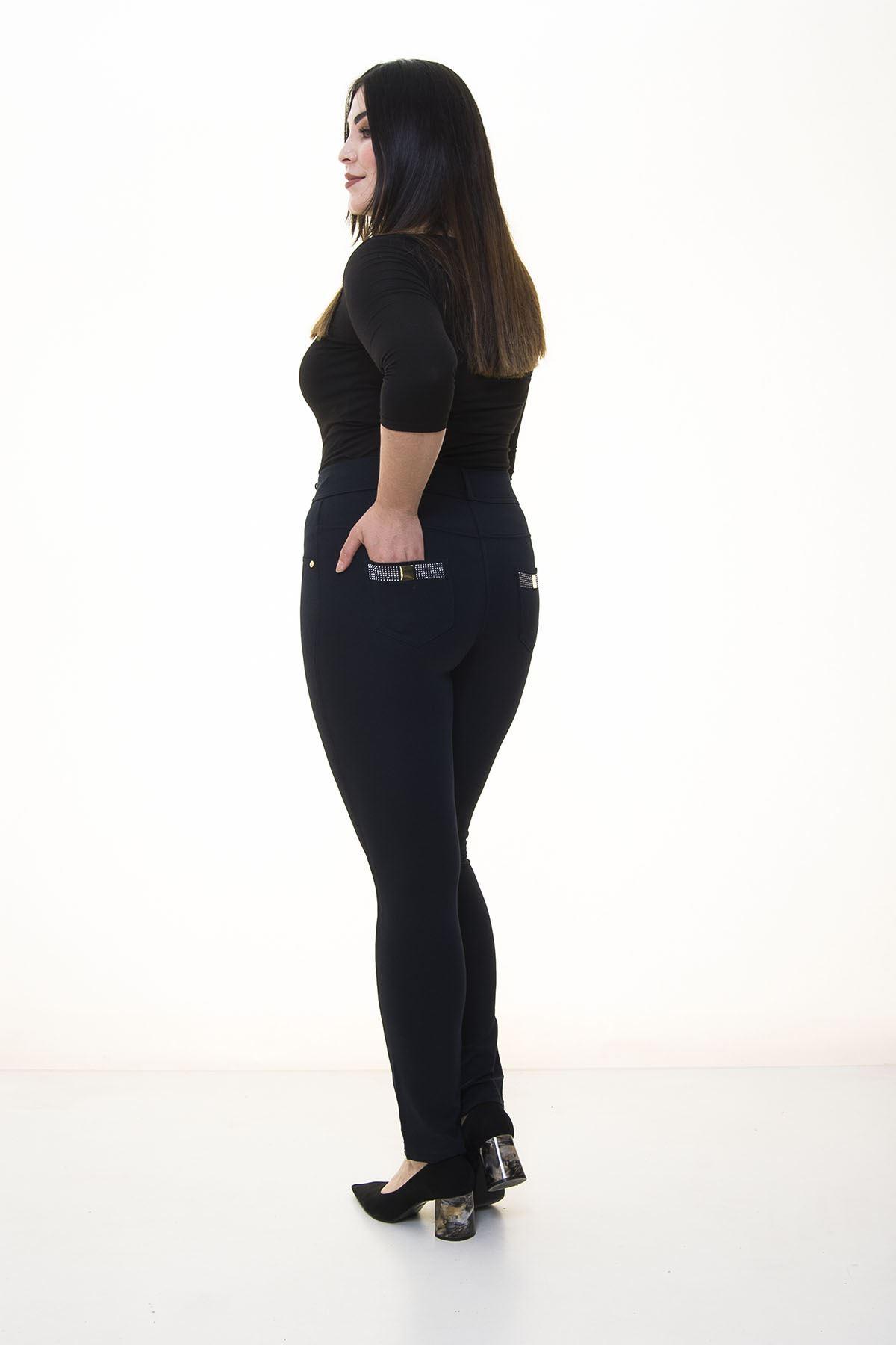 Lacivert Cepli Toparlayıcı Pantolon 3A-1401