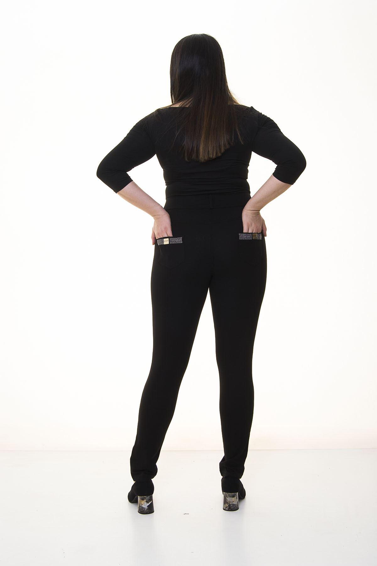 Siyah Cepli Toparlayıcı Pantolon 5B-1390
