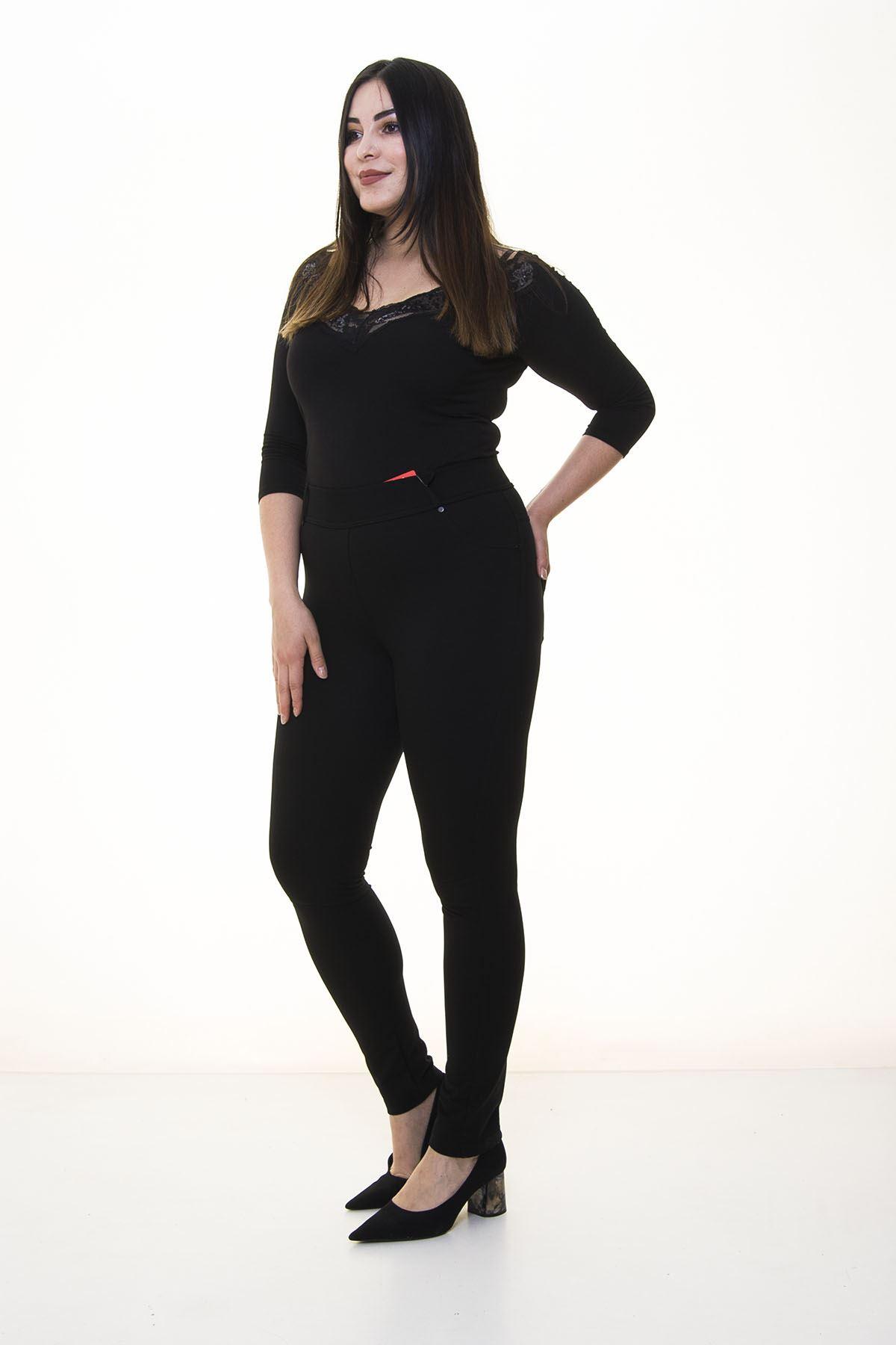 Siyah Toparlayıcı Pantolon 3A-1402