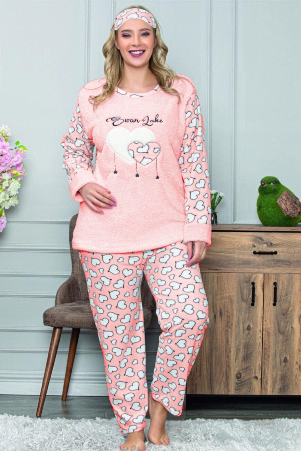 Büyük Beden Kışlık Pijama Takımı 32C-1467