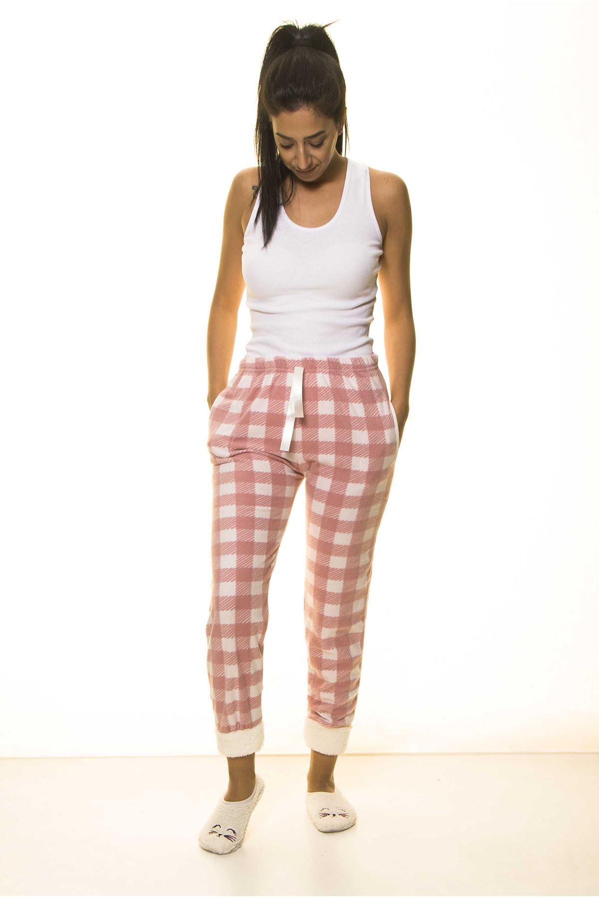 Kışlık Polar Pijama Altı 21B-1491