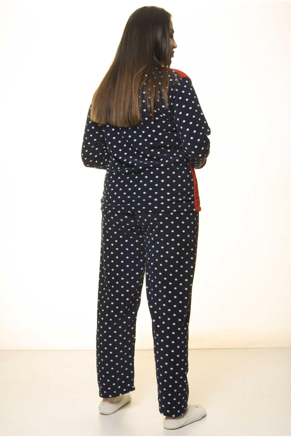 Polar Peluş Kışlık Pijama Takımı 32C-1506