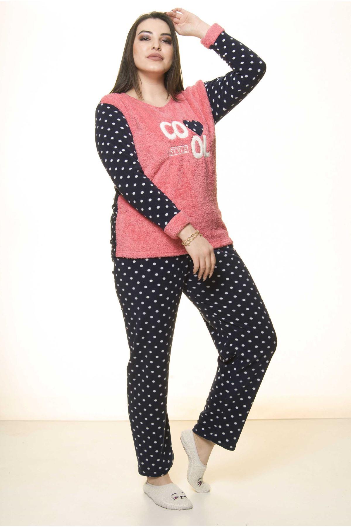 Polar Peluş Kışlık Pijama Takımı 32C-1513