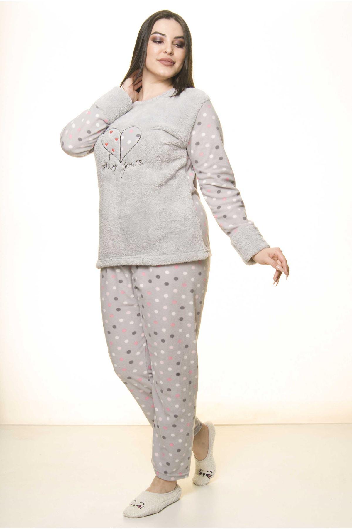 Polar Peluş Kışlık Pijama Takımı 32C-1526