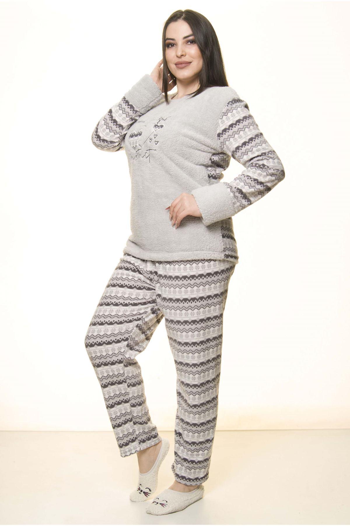 Polar Peluş Kışlık Pijama Takımı 32C-1521