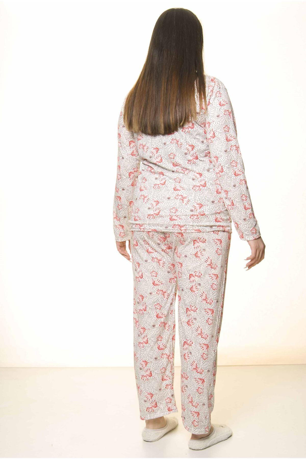 Geniş Kesim Büyük Beden Pijama Takımı 31A-1559