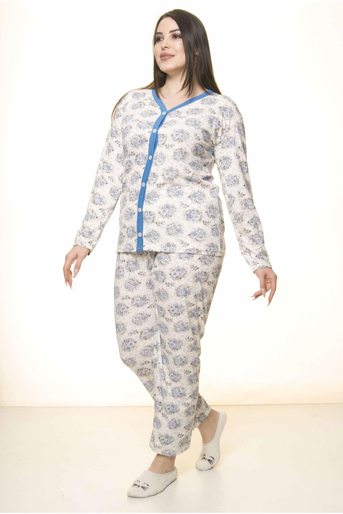 Düğmeli Geniş Kesim Pijama Takımı 31A-1551