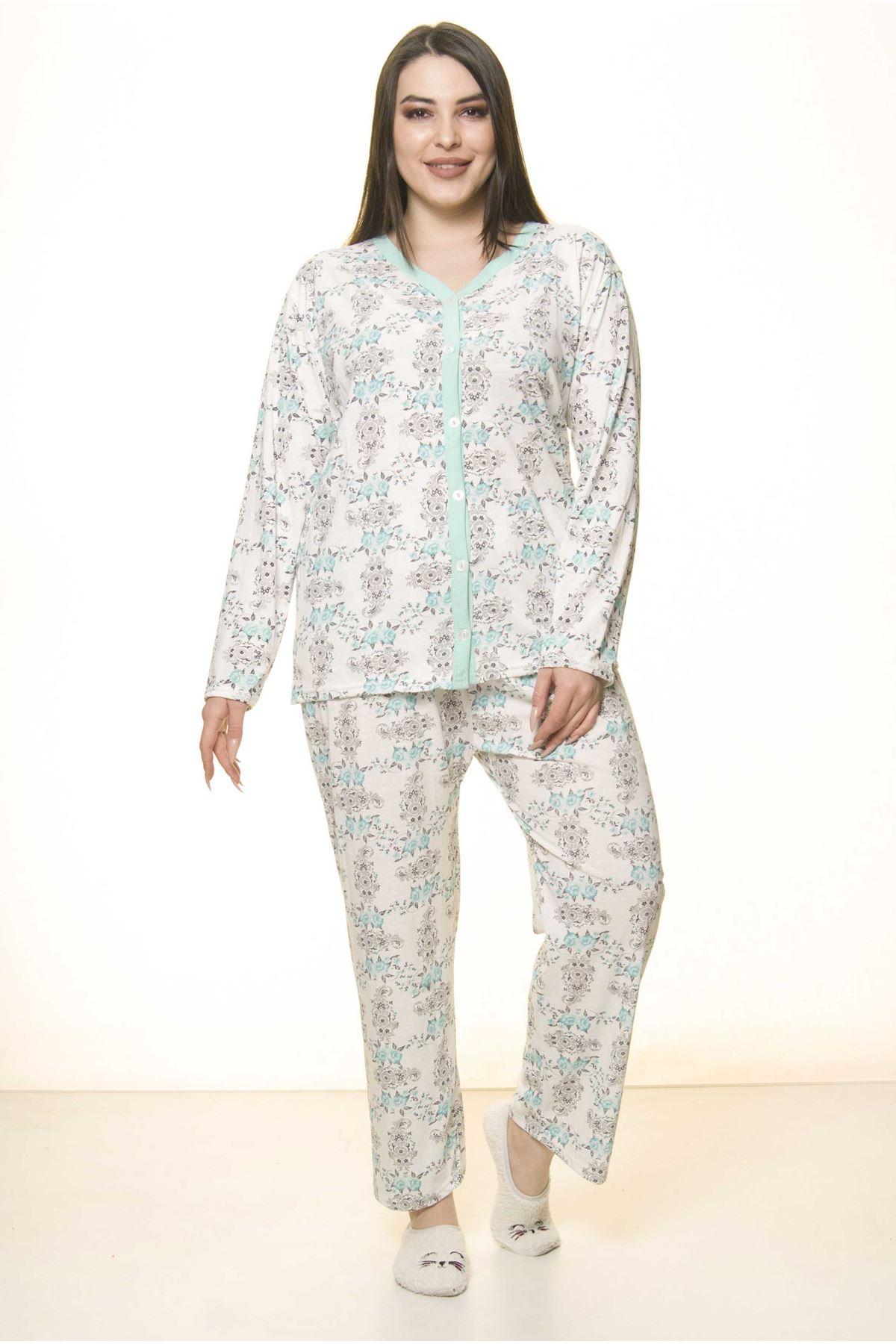 Düğmeli Geniş Kesim Pijama Takımı 31A-1552