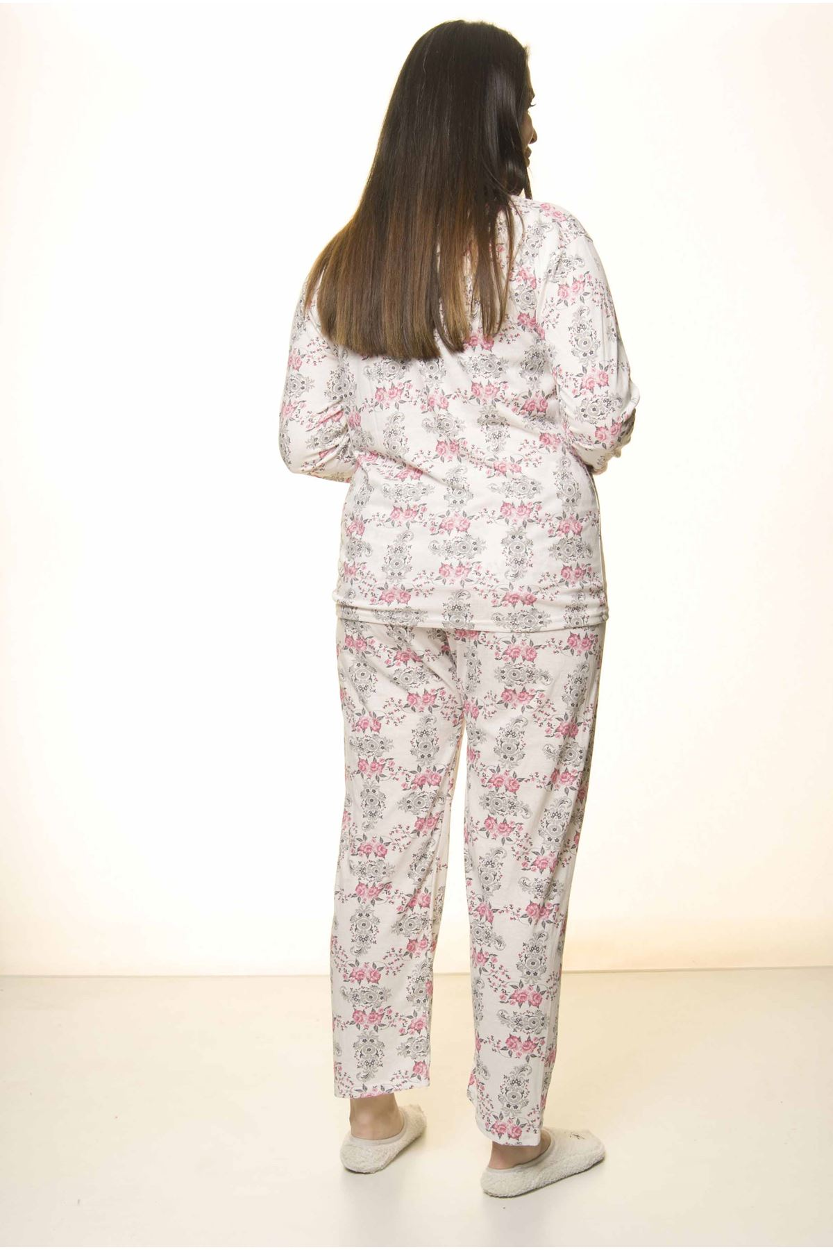 Düğmeli Geniş Kesim Pijama Takımı 31A-1550