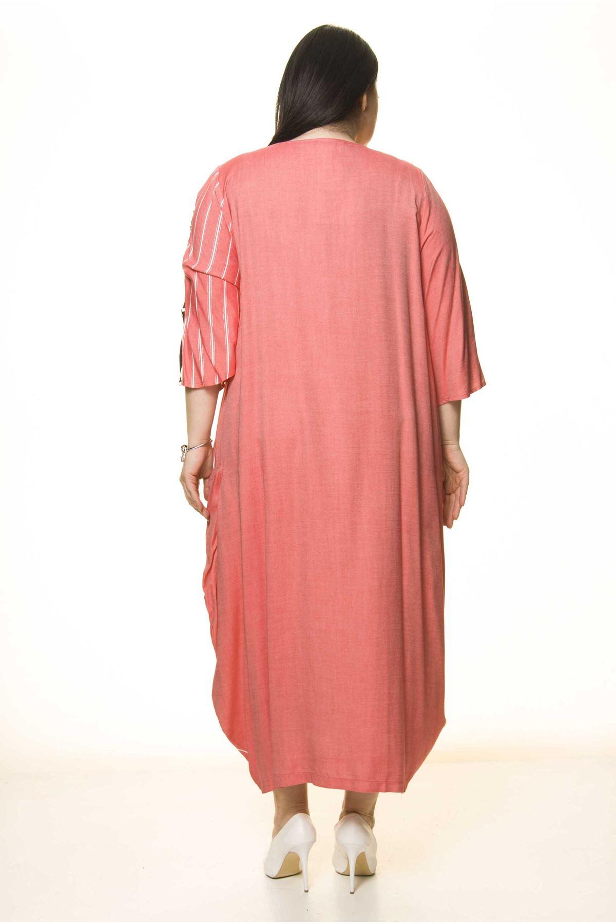 Cepli Büyük Beden Tarz Elbise G10-1666