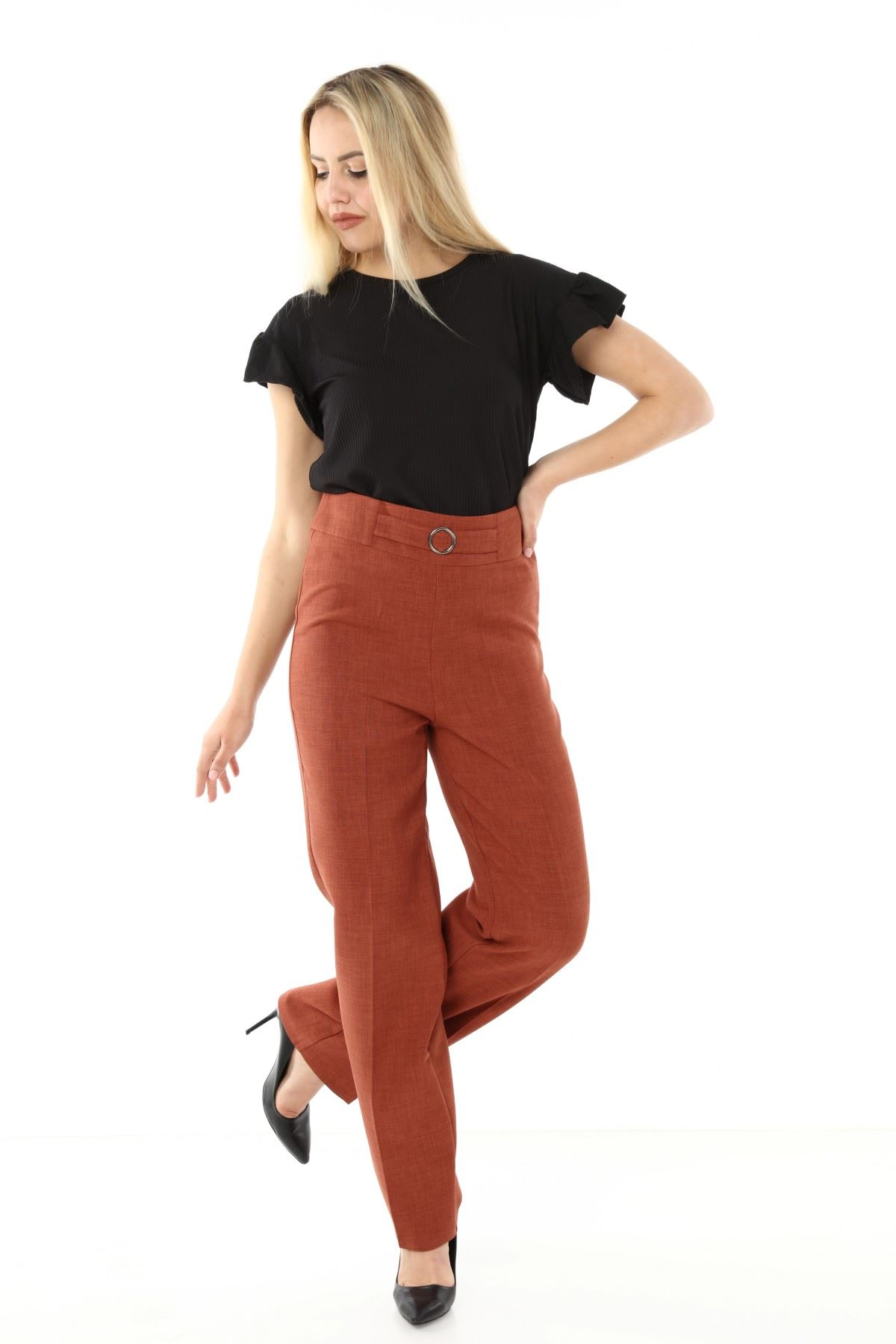 Kahverengi Kumaş Pantolon L2-1709