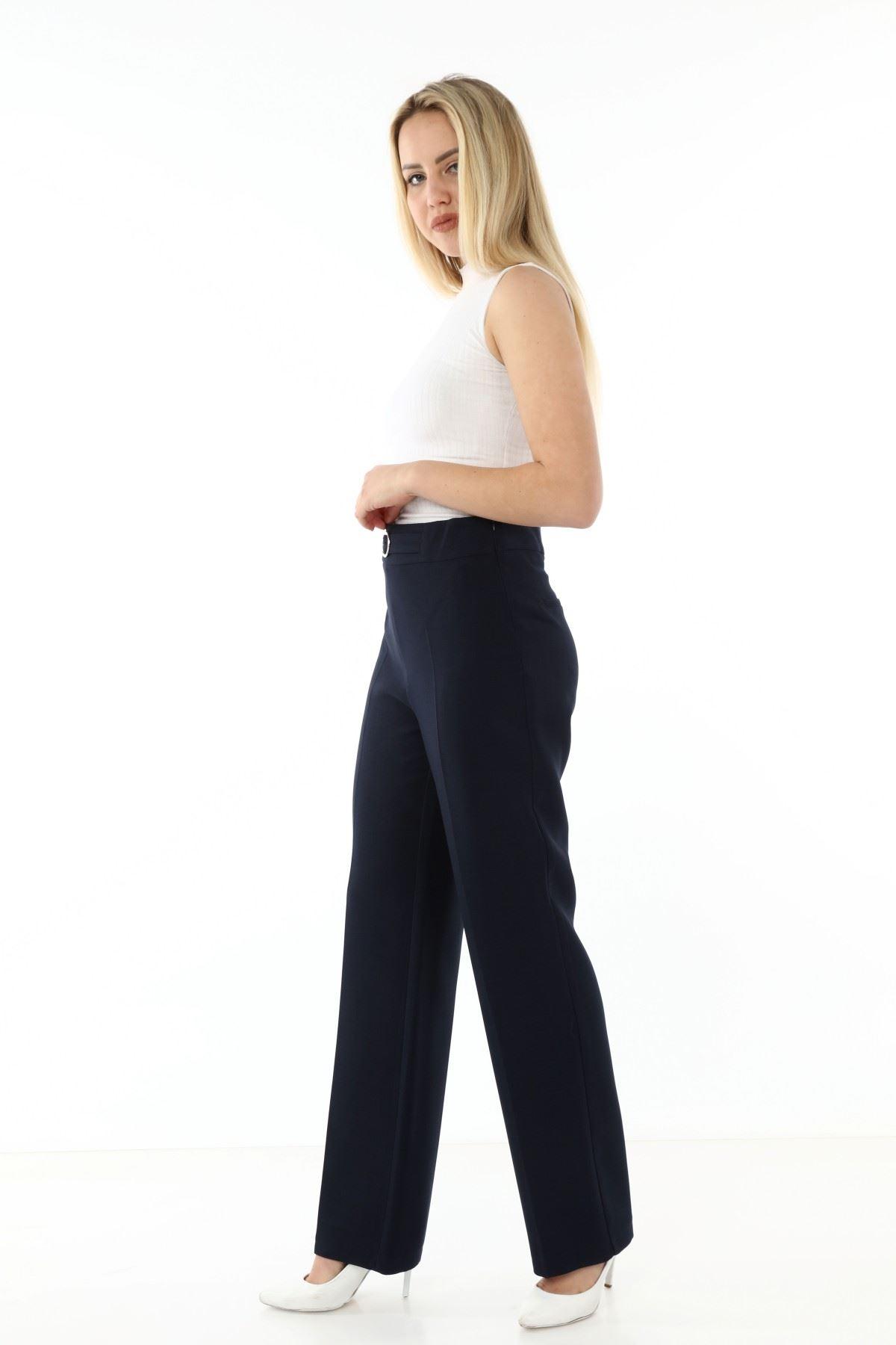 Lacivert Kumaş Pantolon L2-1700