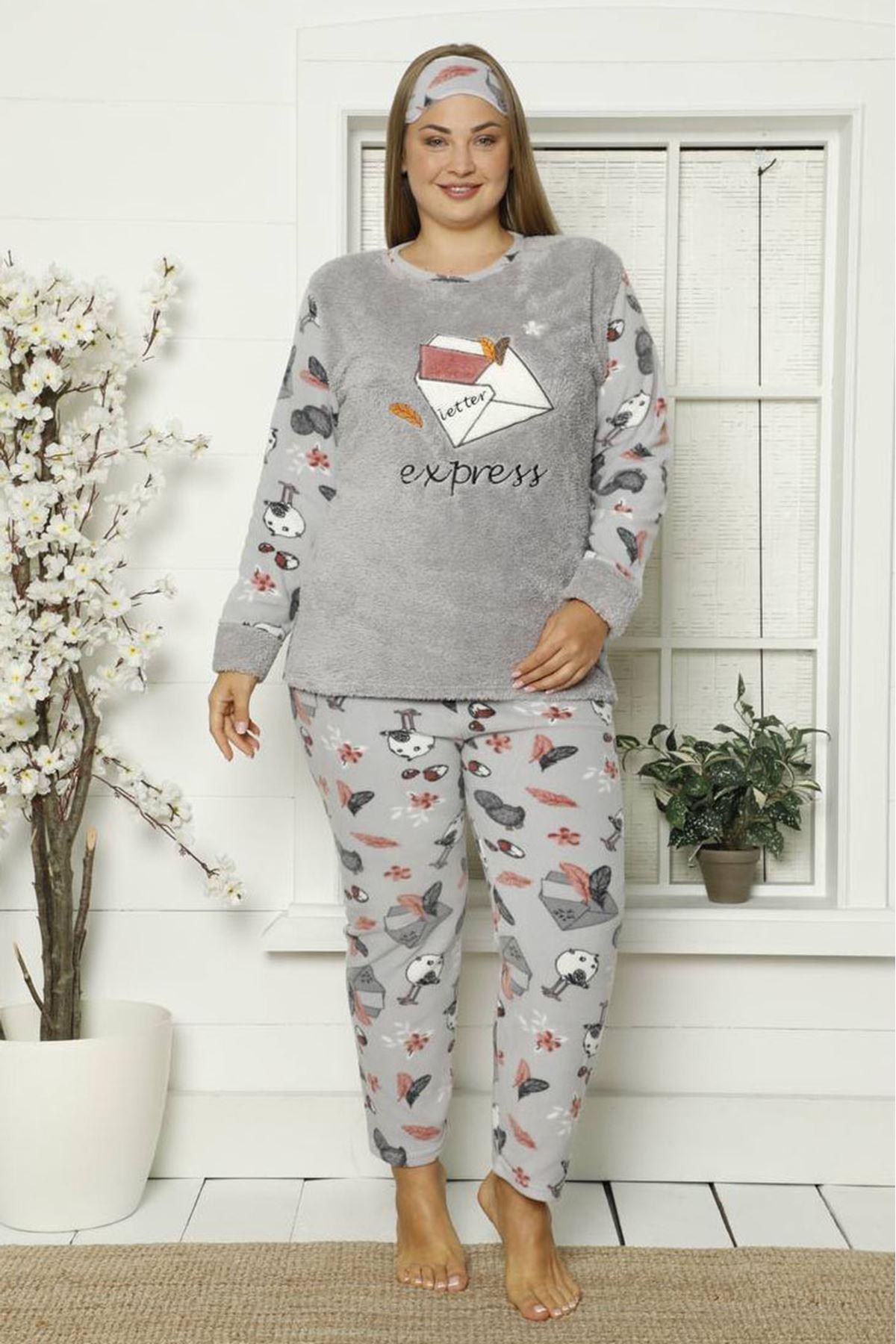 Welsoft Polar Büyük Beden Pijama Takımı 35F-1842
