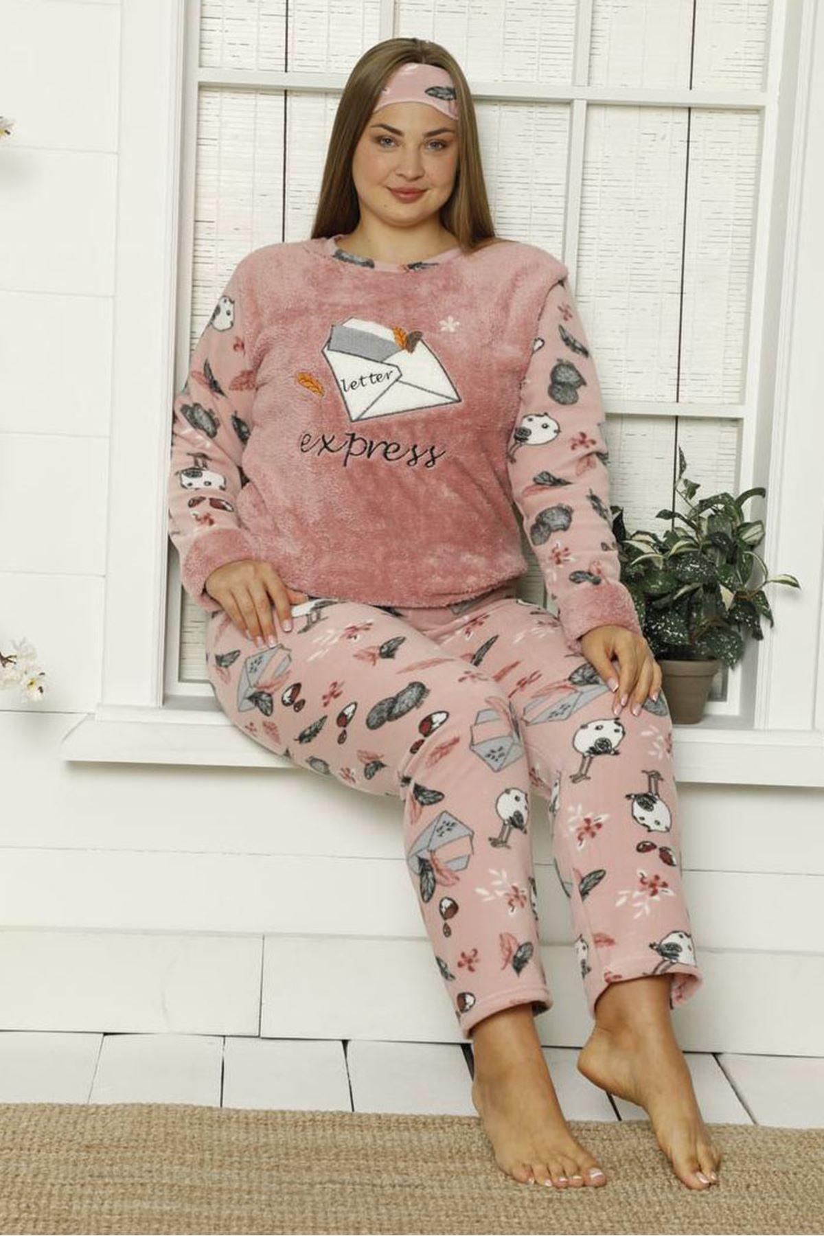 Welsoft Polar Büyük Beden Pijama Takımı 35F-1841