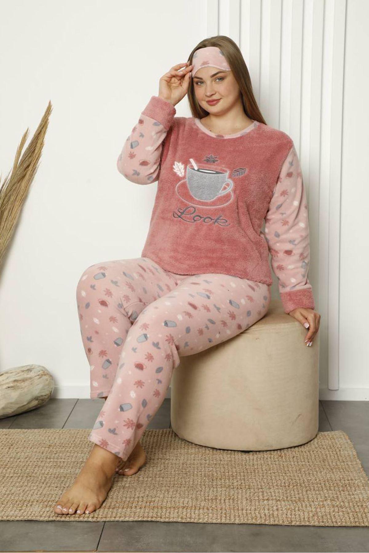 Welsoft Polar Büyük Beden Pijama Takımı 21F-1843