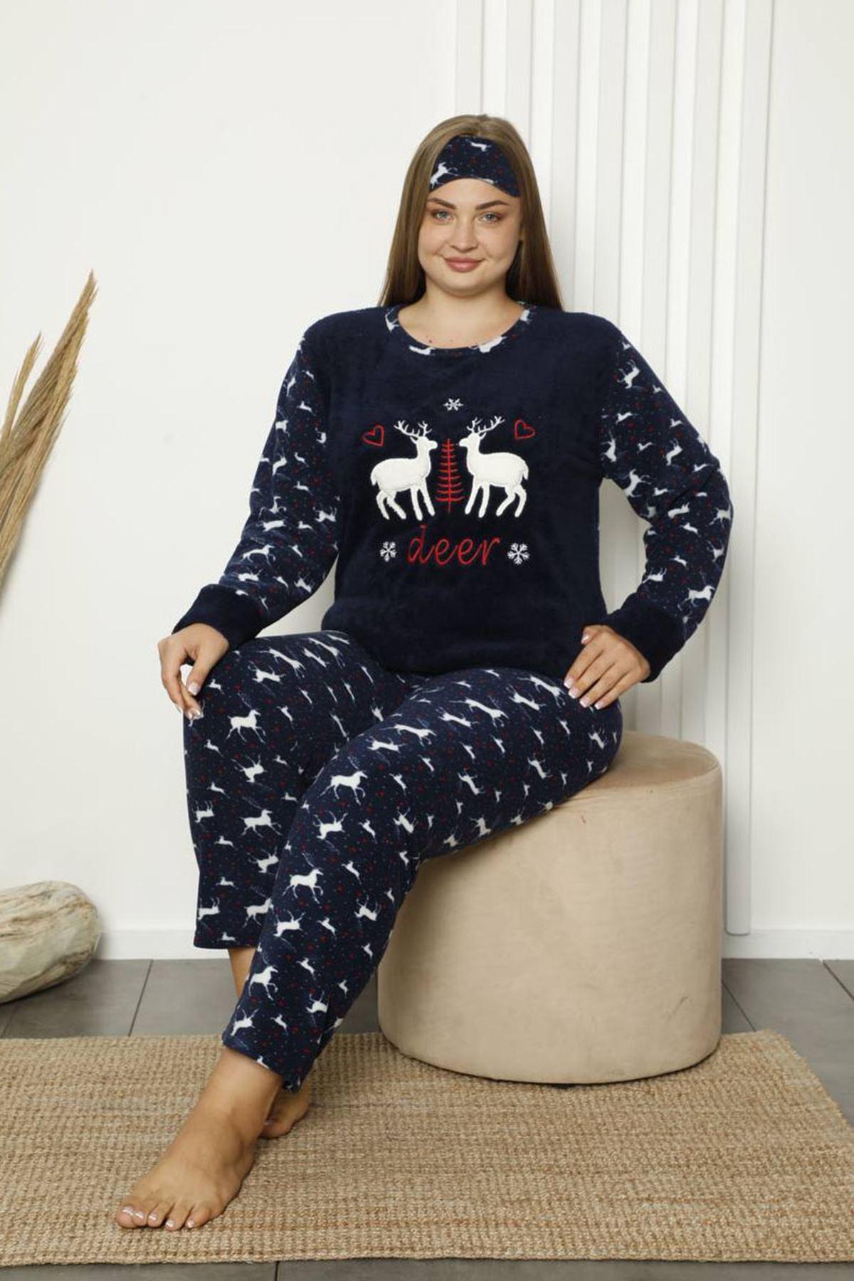 Welsoft Polar Büyük Beden Pijama Takımı 11A-1844