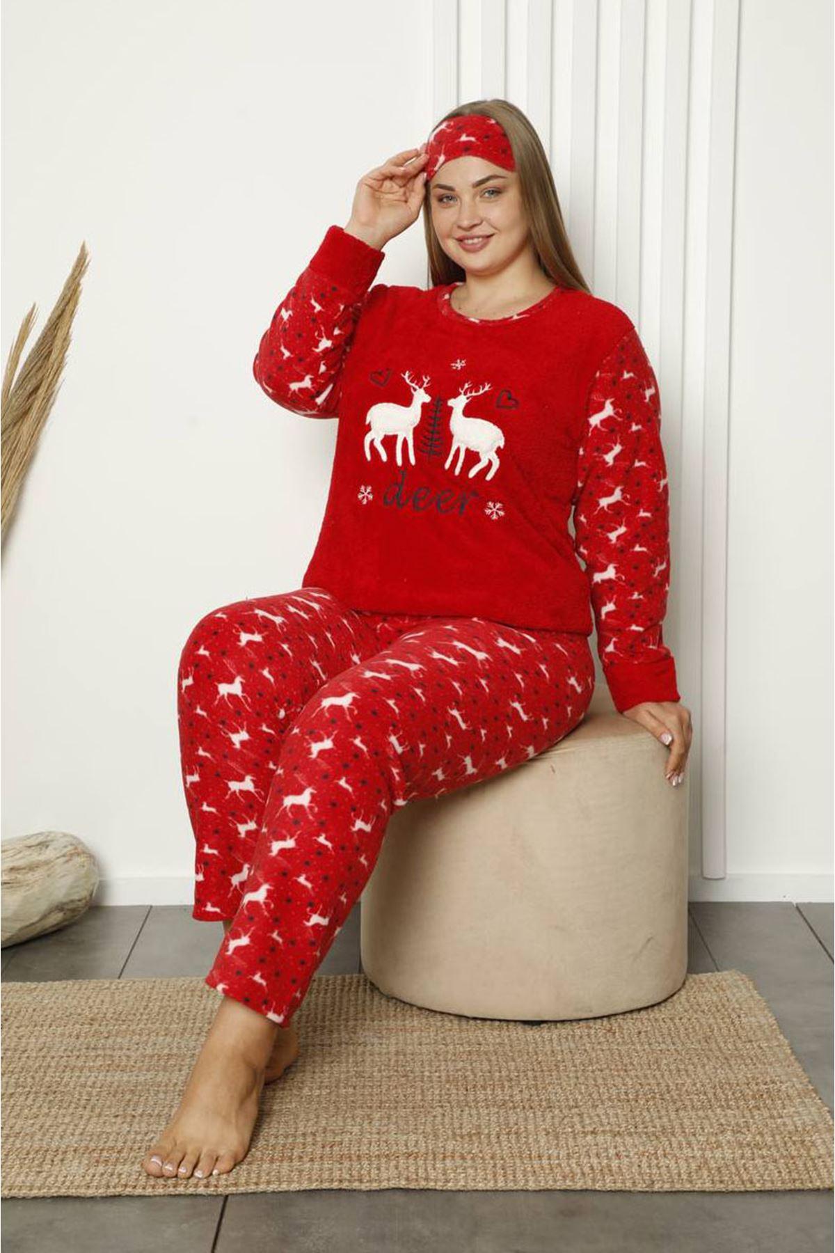 Welsoft Polar Büyük Beden Pijama Takımı 11A-1845