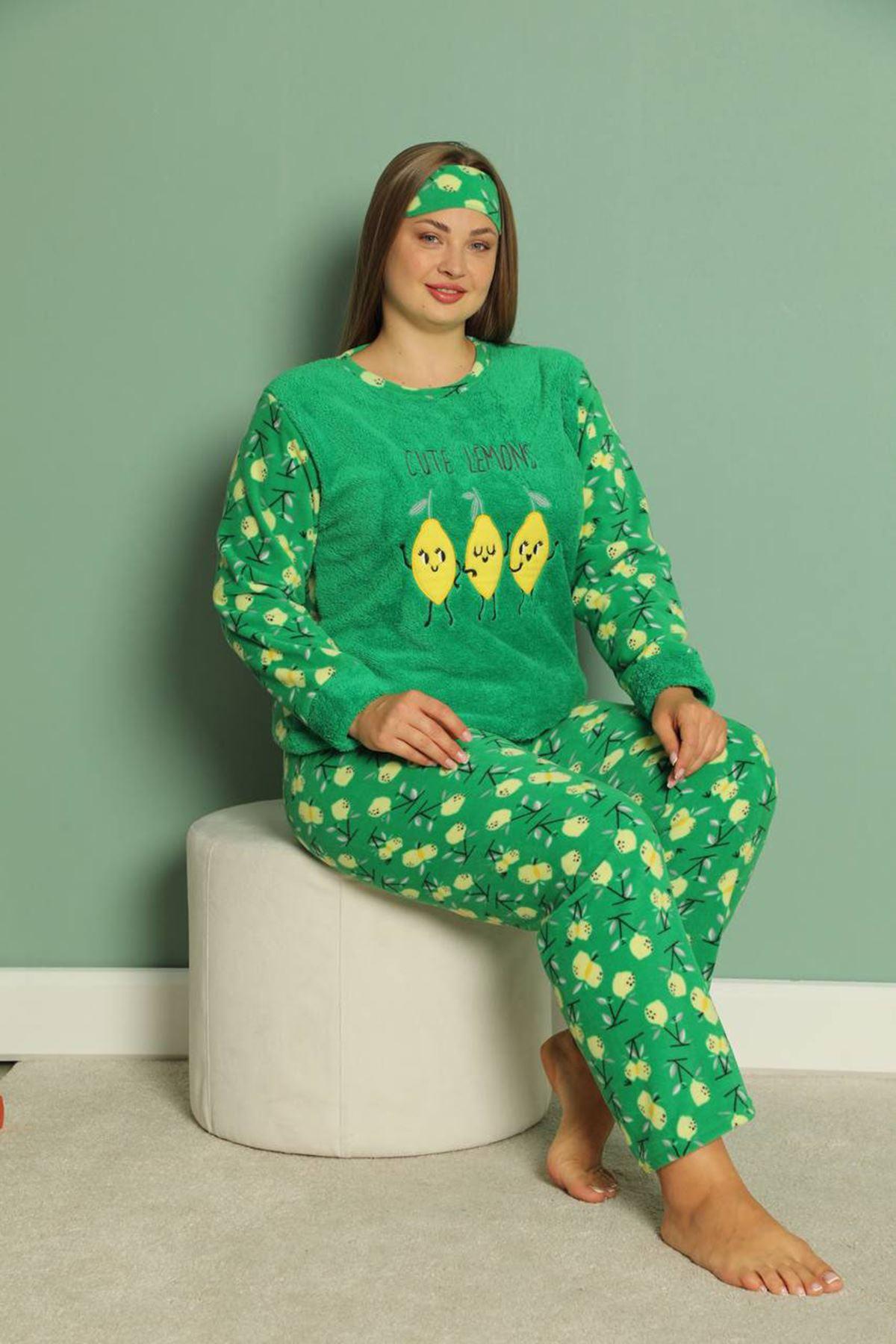Welsoft Polar Büyük Beden Pijama Takımı 32E-1835