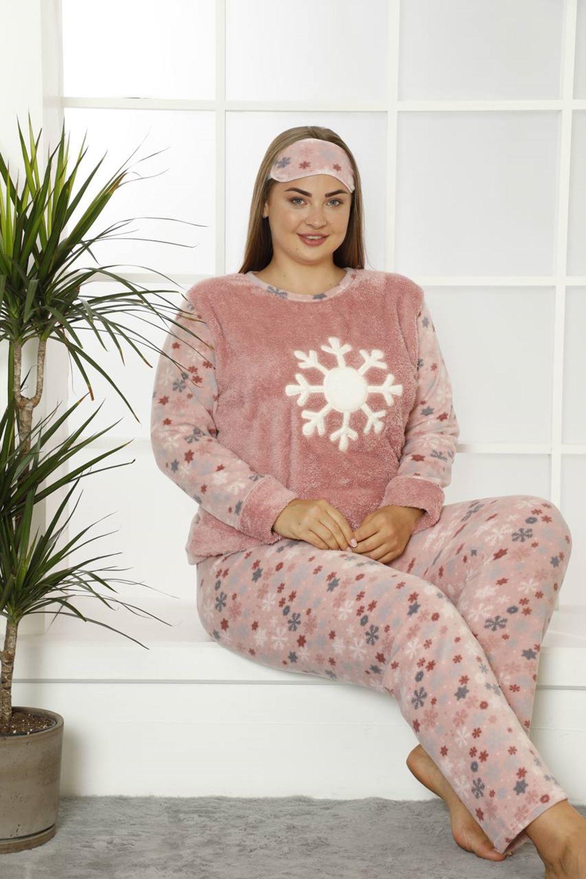 Welsoft Polar Büyük Beden Pijama Takımı 33F-1837