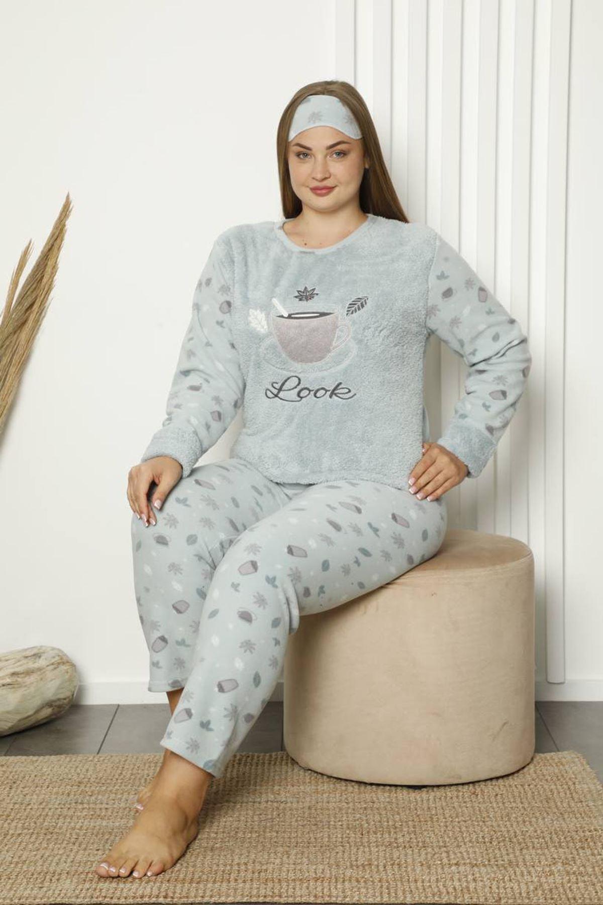 Welsoft Polar Büyük Beden Pijama Takımı 33D-1839