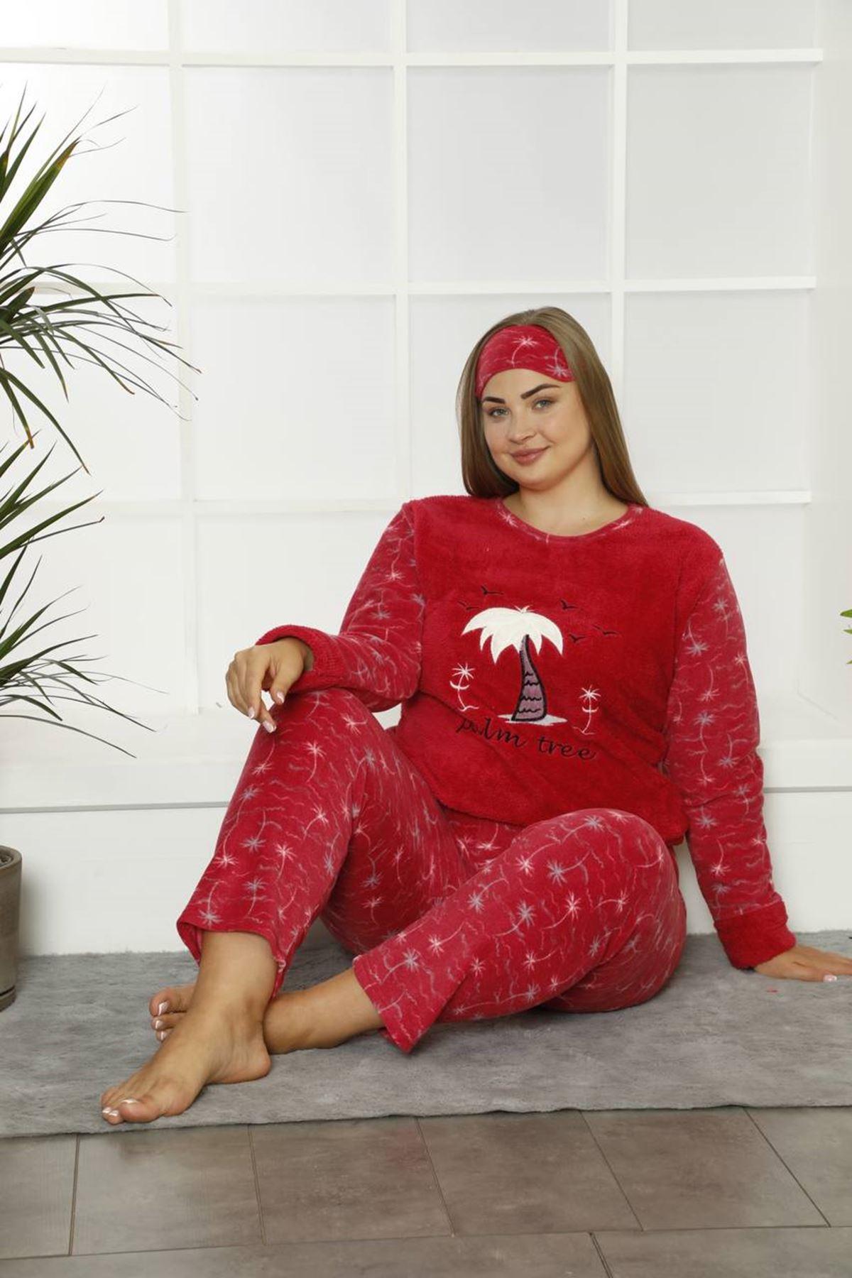 Welsoft Polar Büyük Beden Pijama Takımı 32D-1834