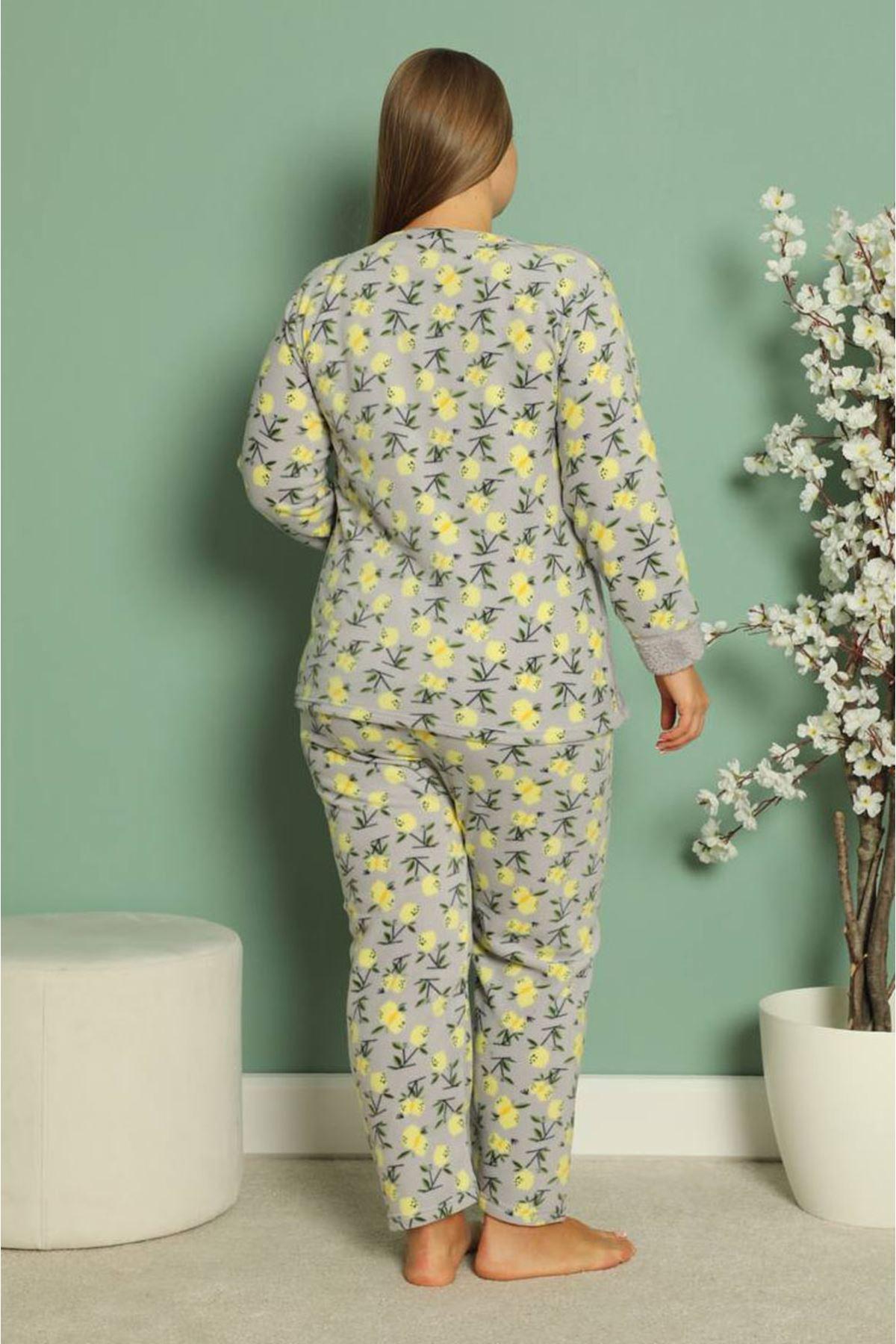 Welsoft Polar Büyük Beden Pijama Takımı 6F-1848