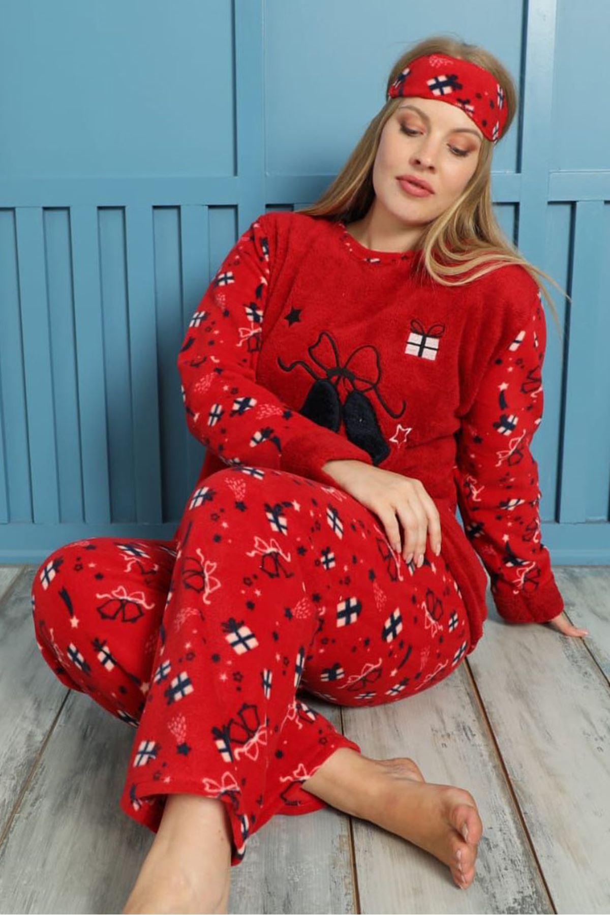 Welsoft Polar Büyük Beden Pijama Takımı 26B-1858