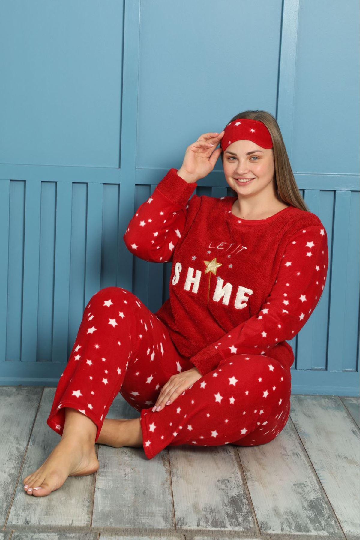 Welsoft Polar Büyük Beden Pijama Takımı 13E-1873